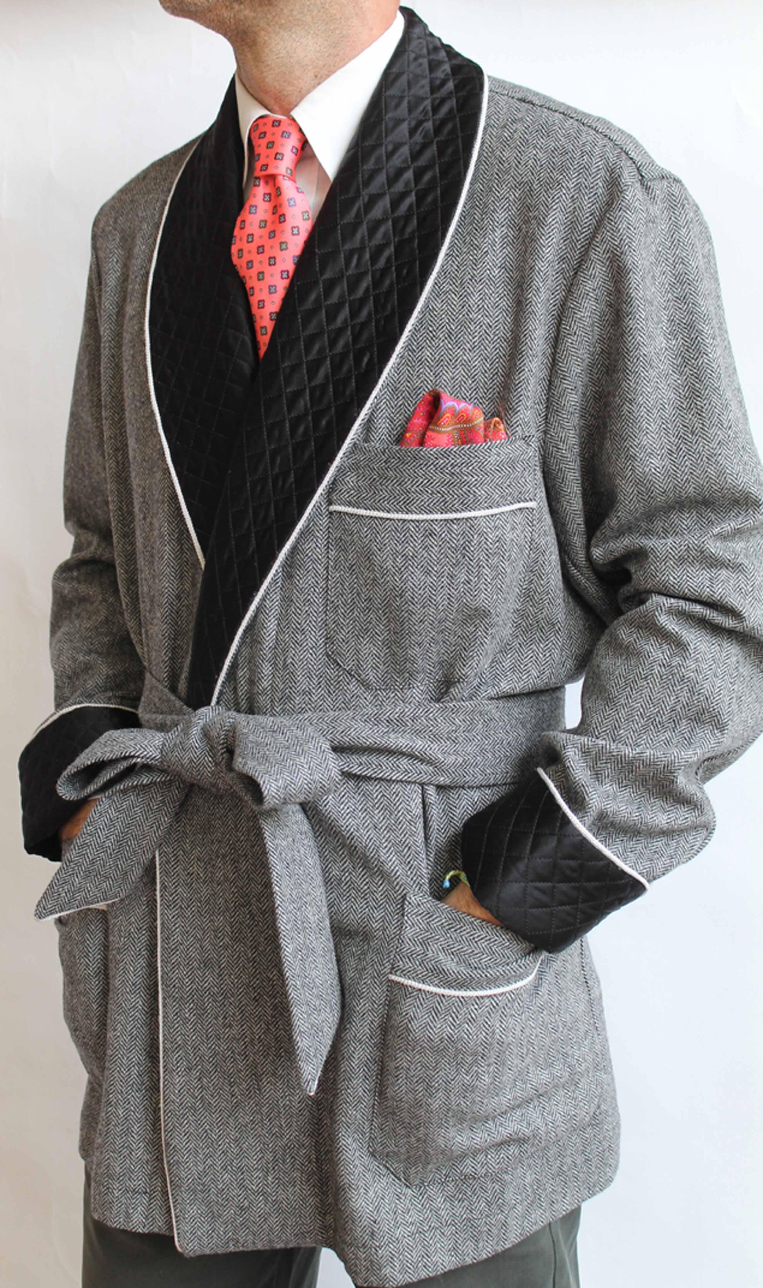 Veste d 39 int rieur pour homme en laine shetland avec - Veste interieur homme ...