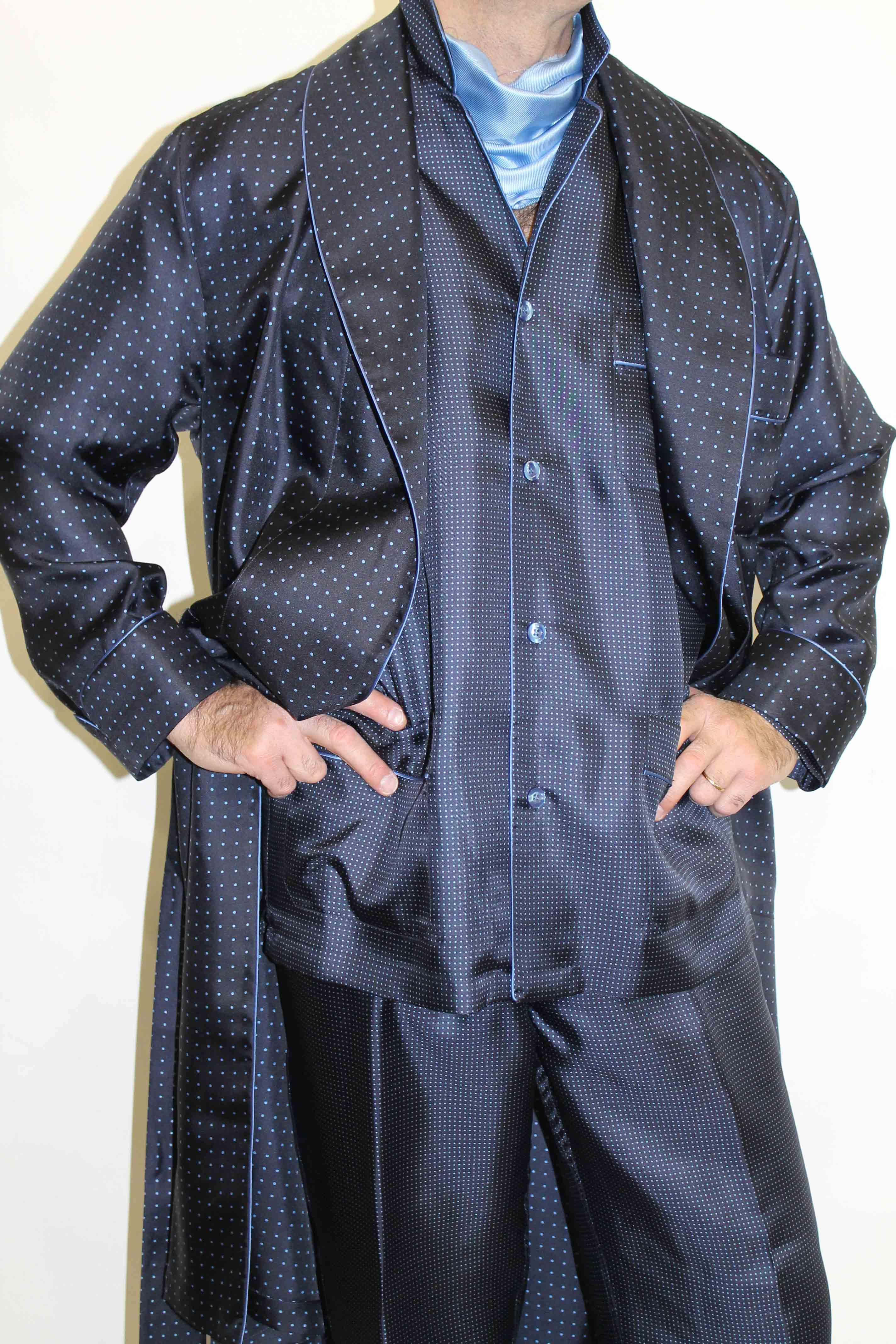 Robes de chambre en soie pour homme