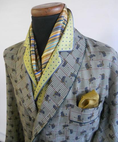 robe de chambre classique pour homme 100 laine etamine avec passepoil. Black Bedroom Furniture Sets. Home Design Ideas