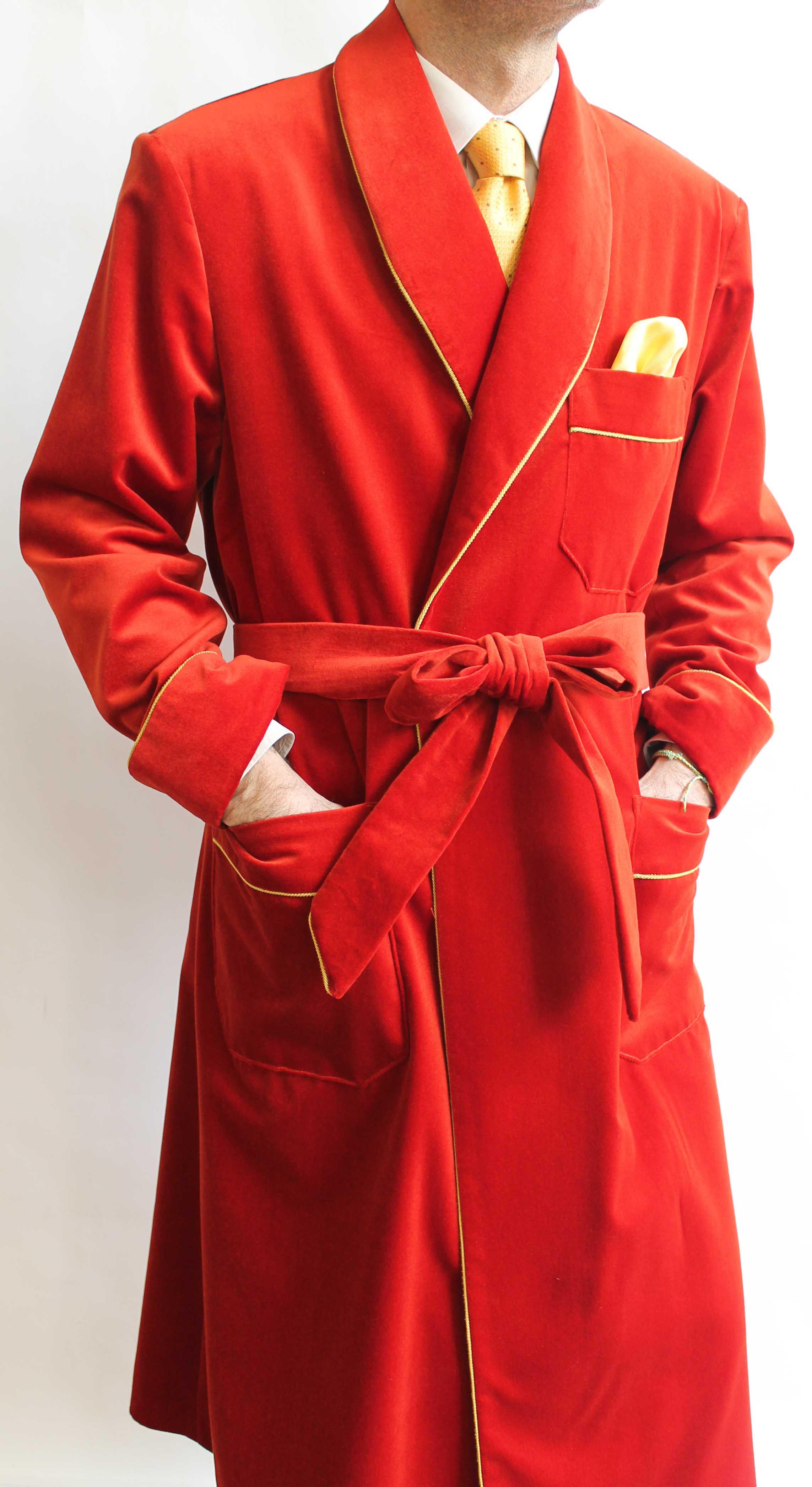 robe de chambre pour homme en coton. Black Bedroom Furniture Sets. Home Design Ideas
