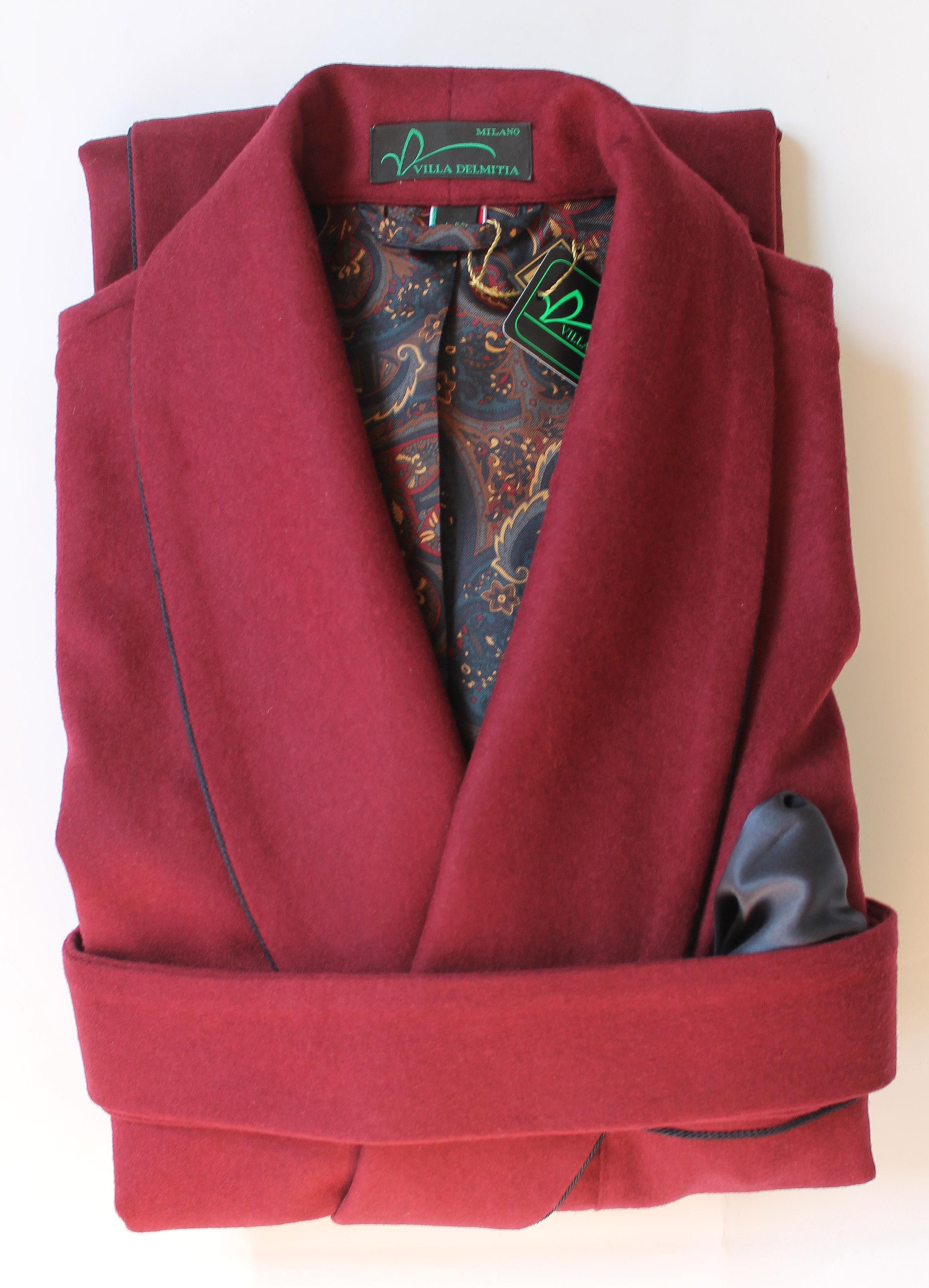 robe de chambre classique pour homme en 10 cachemire 90 laine avec doublure sur les paules en. Black Bedroom Furniture Sets. Home Design Ideas