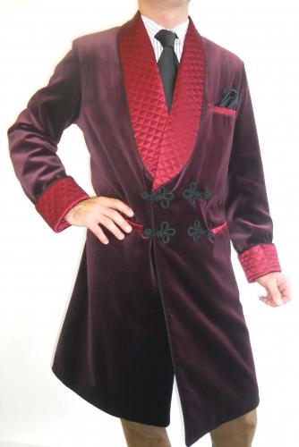 Veste d 39 interieur longue pour homme en velours de coton - Veste interieur homme ...