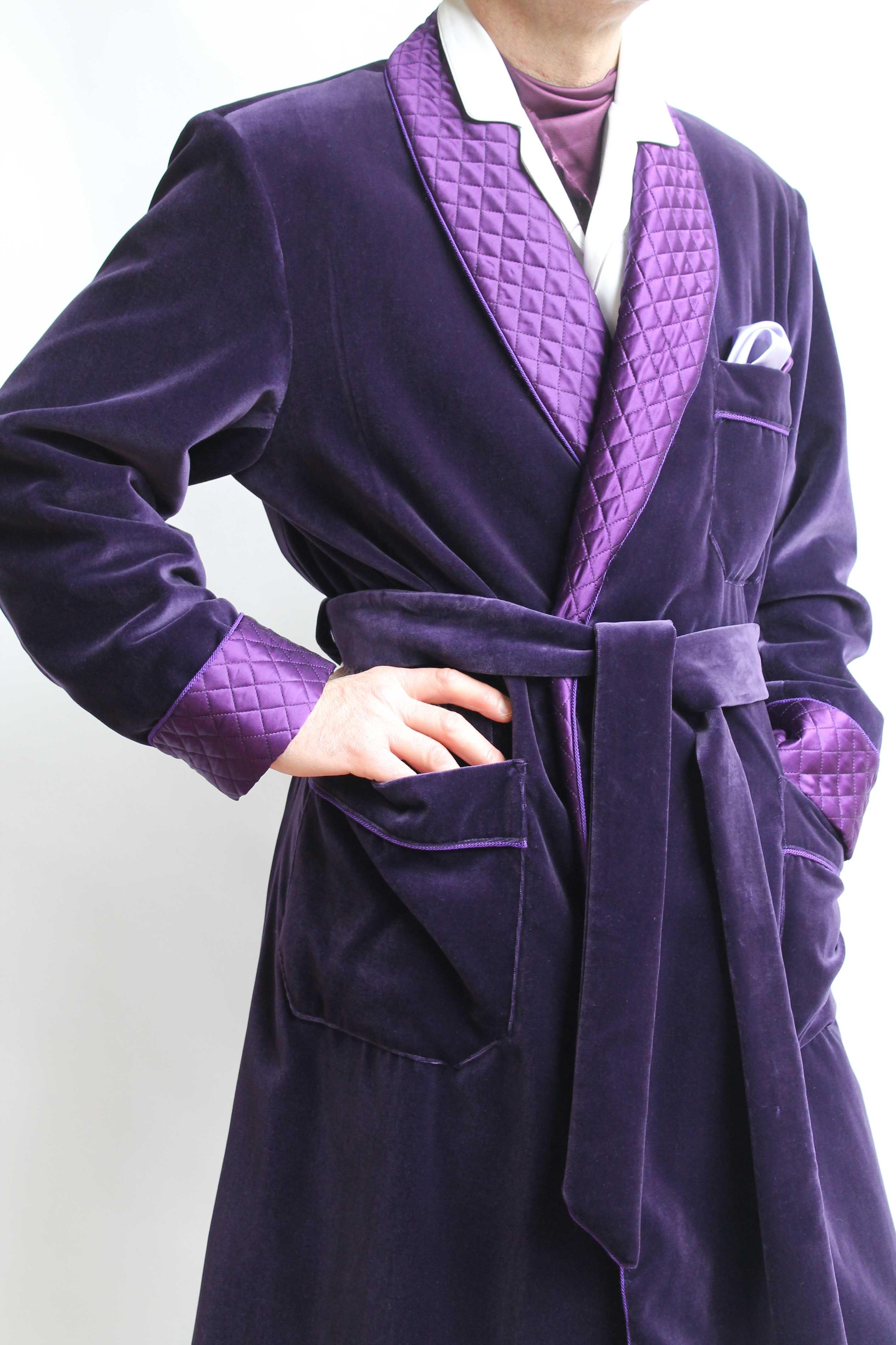 Robe de chambre homme laine et soie